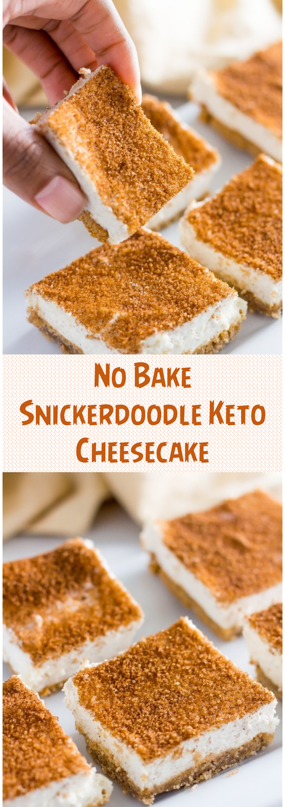 No Bake Snickerdoodle Keto Cheesecake