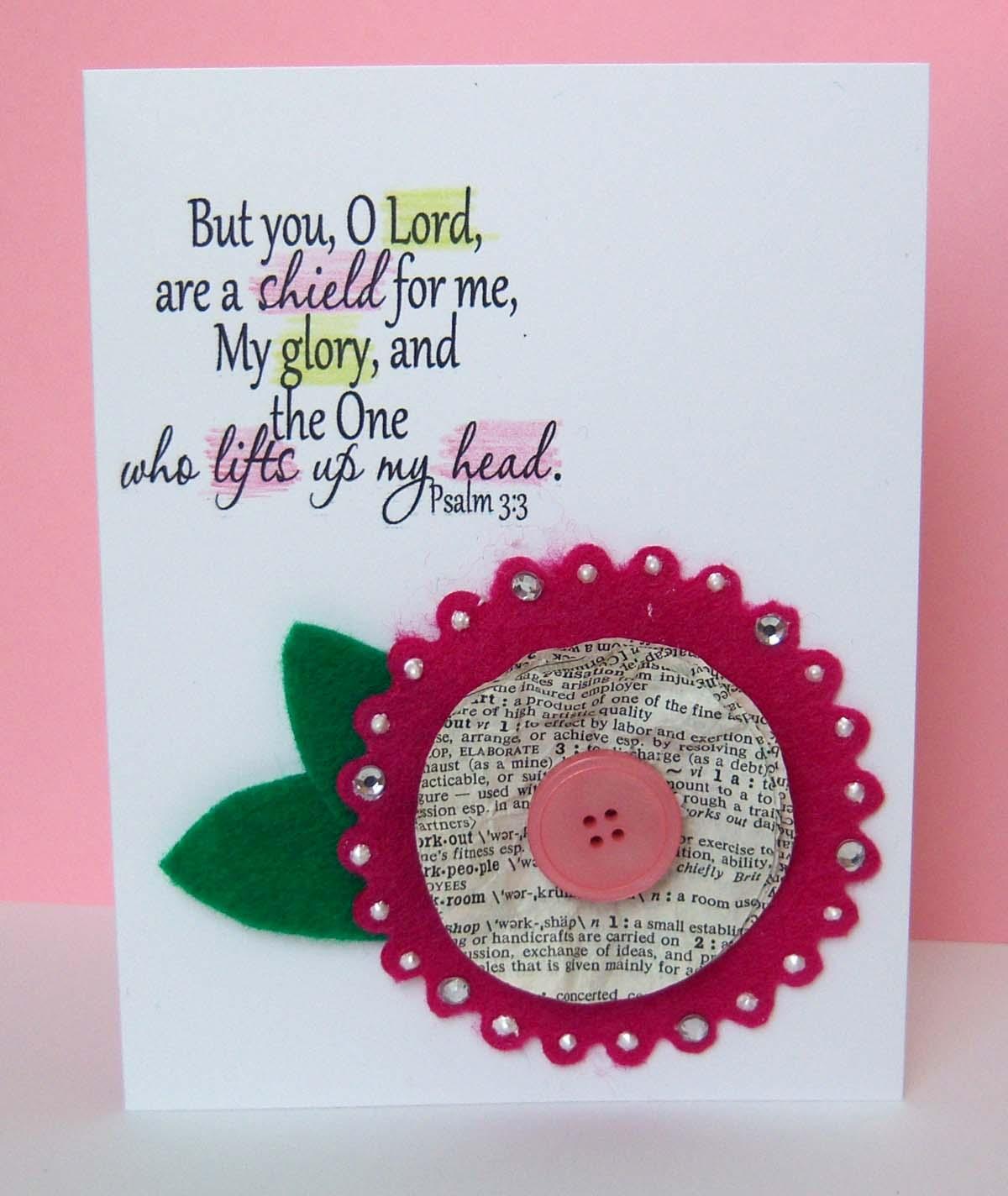 Shoregirls Creations Simple Felt Flower Cards
