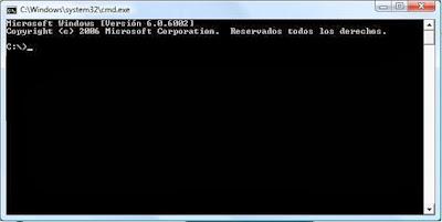 ventana de comandos MS-DOS