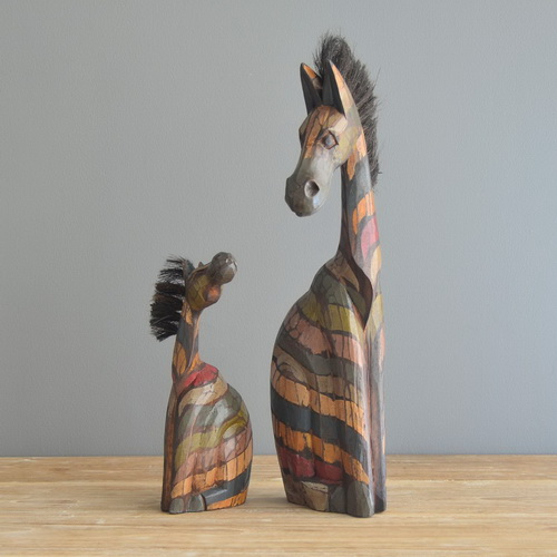 www.Tinuku.com Matralegno studio presents series sculptures iconic animals as installations artworks for interior decoration