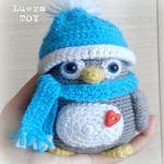 patron gratis pingüino amigurumi   free pattern amigurumi penguin