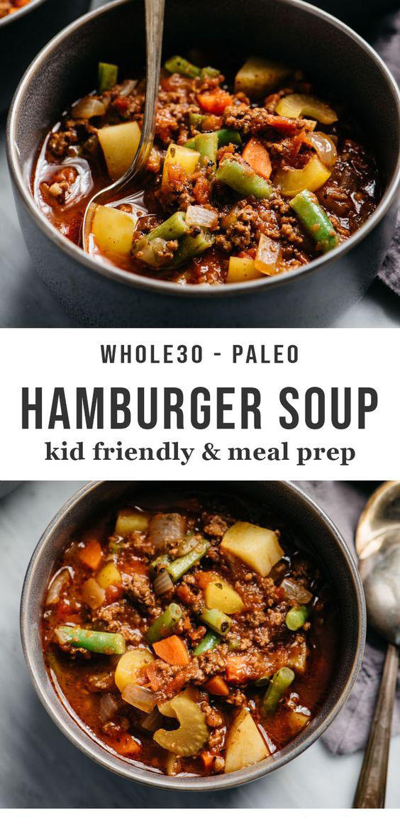 How to Make Whole30 Hamburger Soup