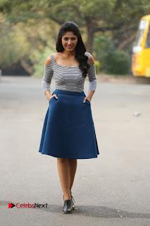 Telugu Actress Roshini Prakash Stills Short Dress at Saptagiri Express Release Press Meet  0246.JPG