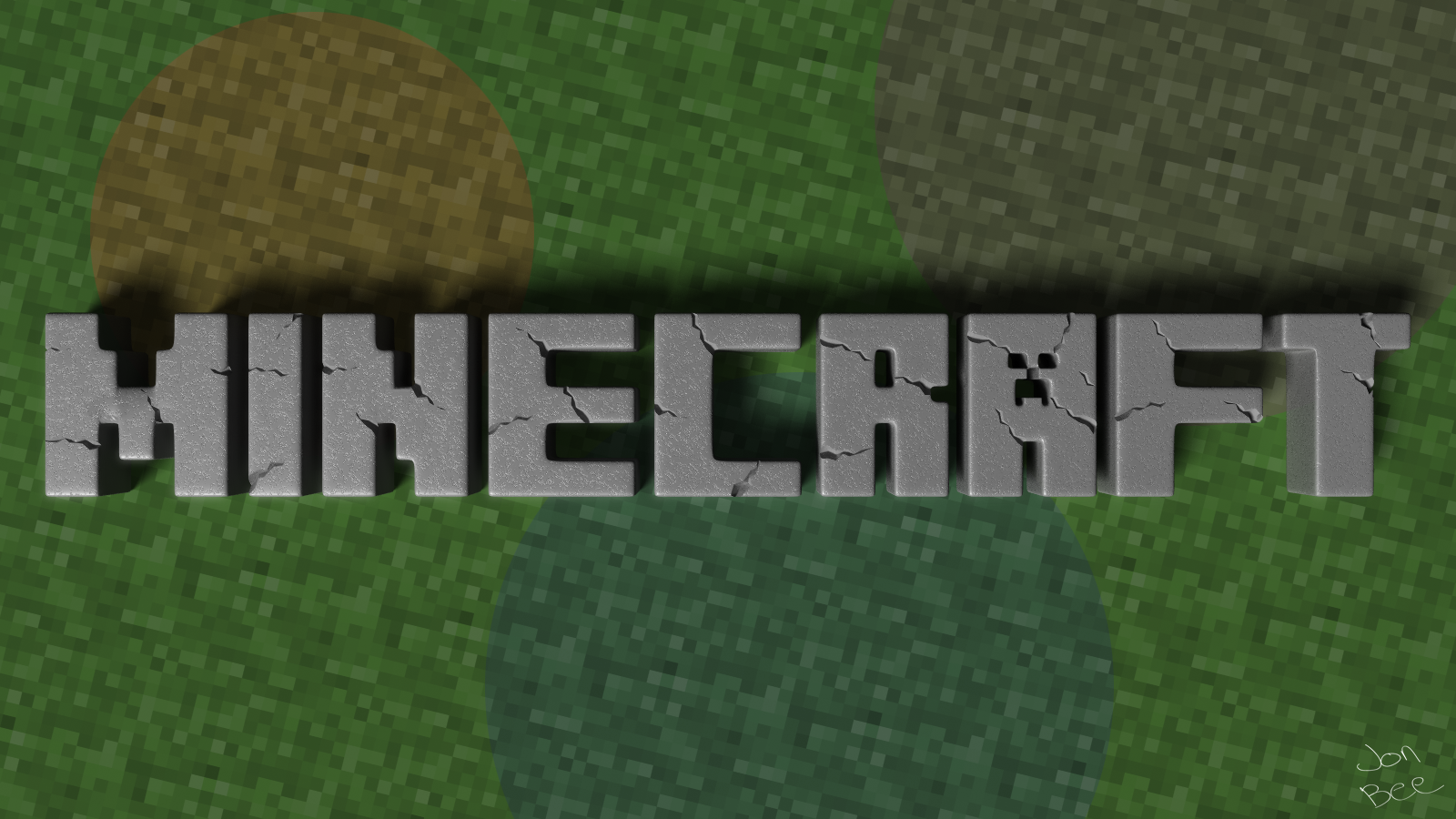 Minecraft Logo Wallpaper Been Playing Minecraft For
