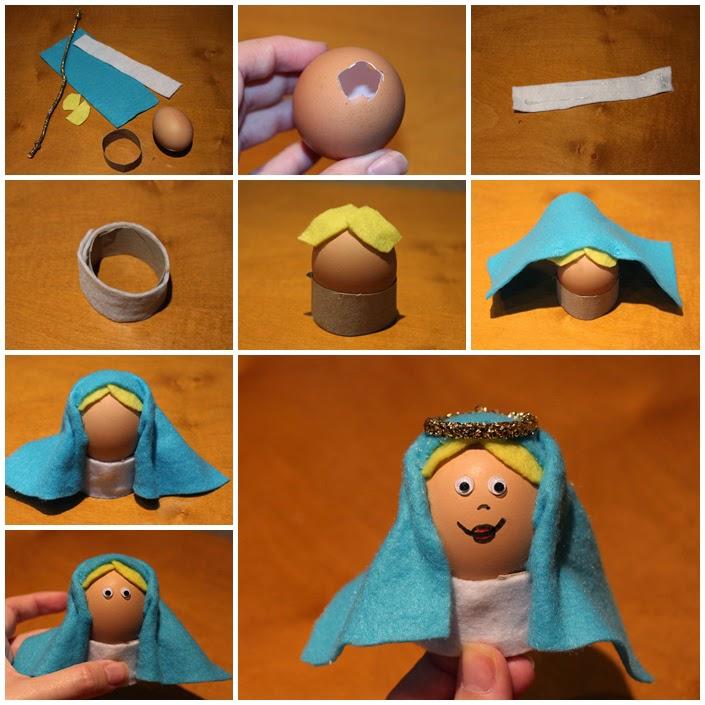 virgen maria con huevos