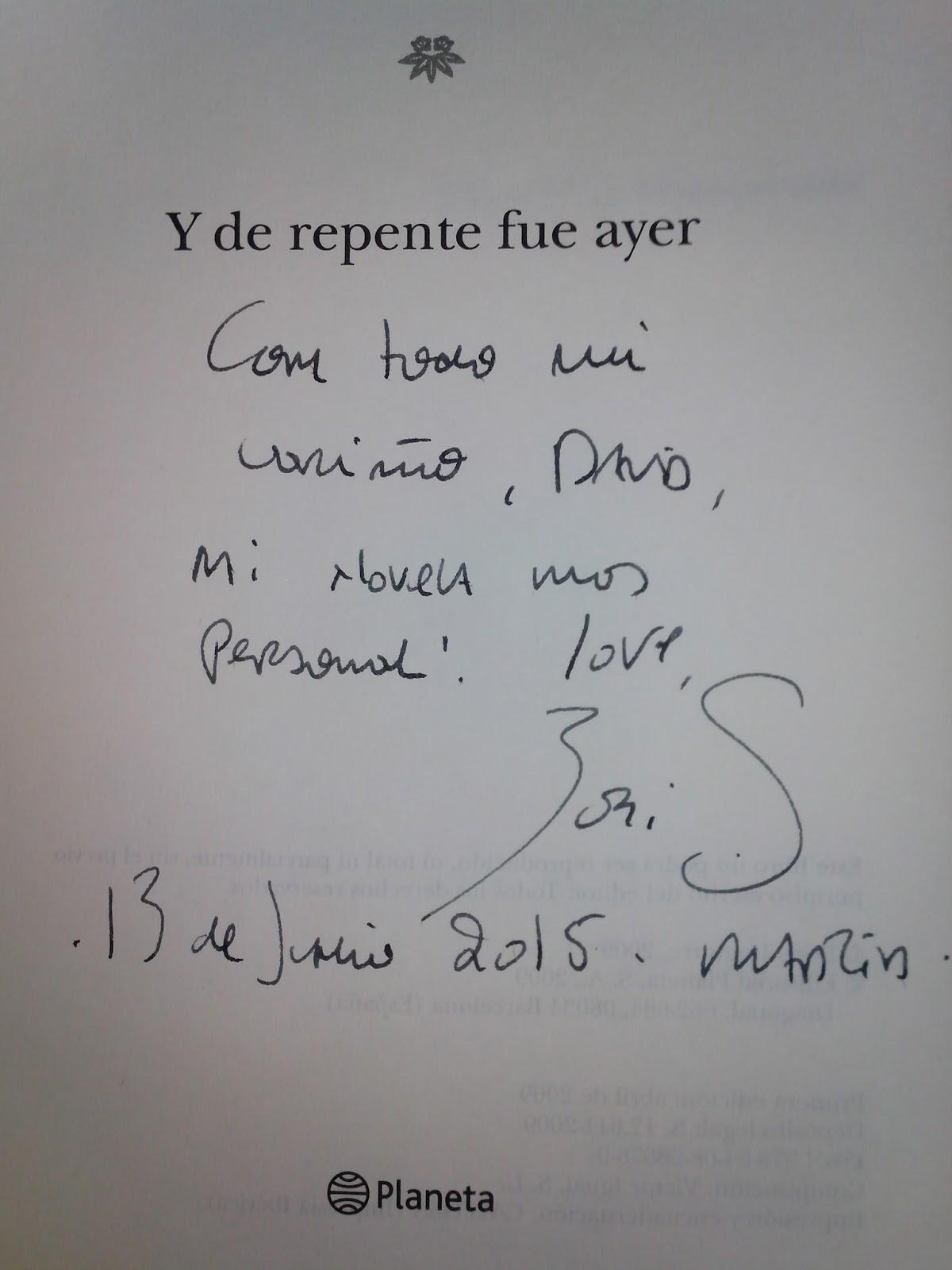 Y DE REPENTE FUE AYER (BORIS IZAGUIRRE)