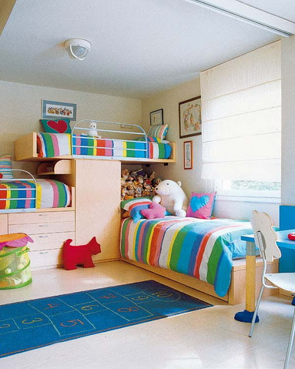10 shared children's bedrooms with lots of color 4