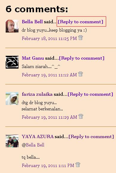 Akhirnya berjaya  buat  'Reply To Comment'