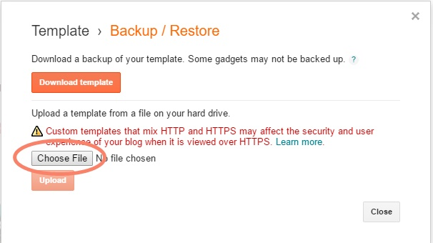 tips backup restore template
