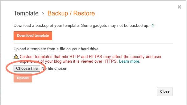 tips backup restore template