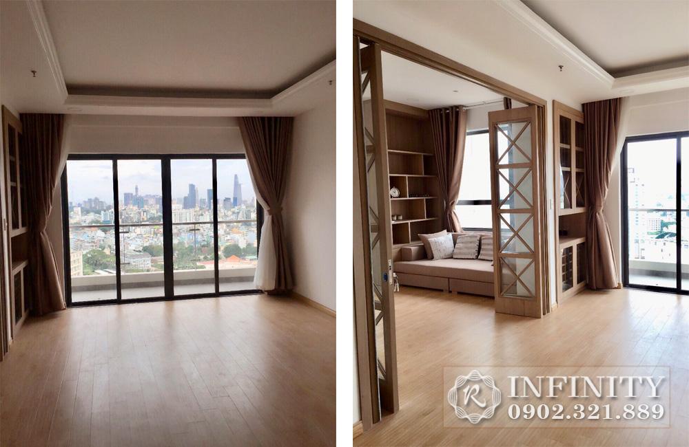 Everrich Q5 cho thuê căn hộ 2 phòng ngủ tầng 21 Block A giá rẻ