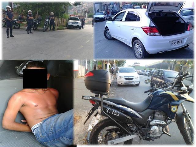 GCM de Jandira - Adolescente é detido com carro roubado