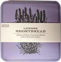 Blik lavender shortbread M&S