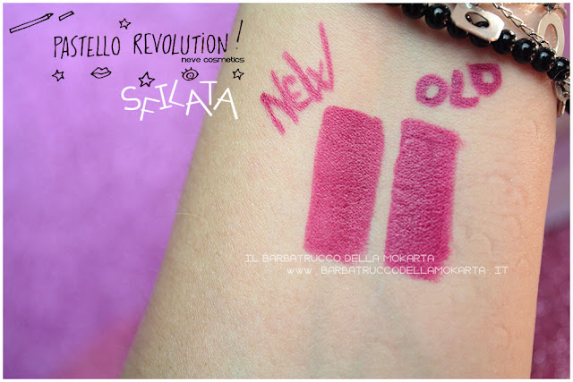 sflata comparazioni BioPastello labbra Neve Cosmetics  pastello revolution
