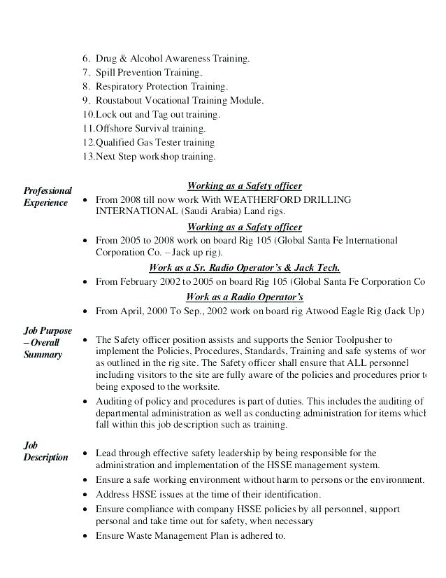 Safety Officer Resume Format In India on sample student, cchs public, builder for police, examples hospital, hobbies sample, for construction, examples for fleet,