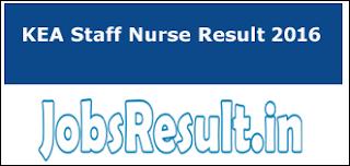 KEA Staff Nurse Result 2016