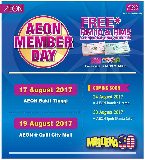 AEON Member Day Cardholder Free Cash Voucher Discount Promo