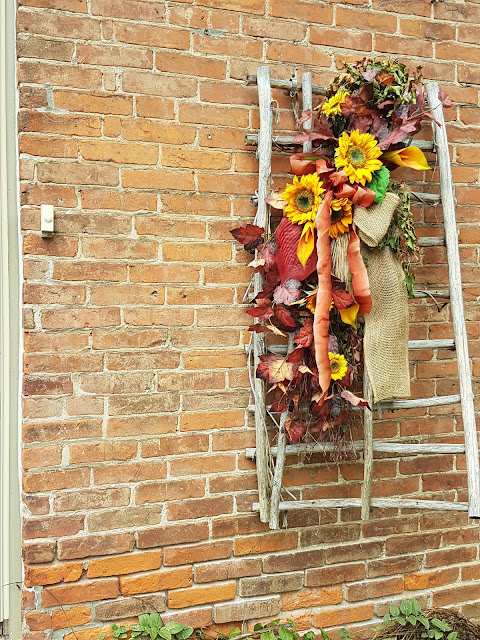 sunflower fall decor at the Camellia