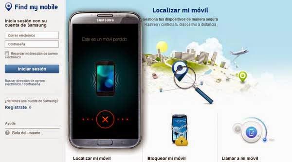 app samsung localizar movil