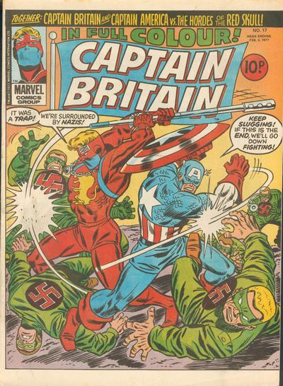 Marvel UK, Captain Britain #17, Captain America