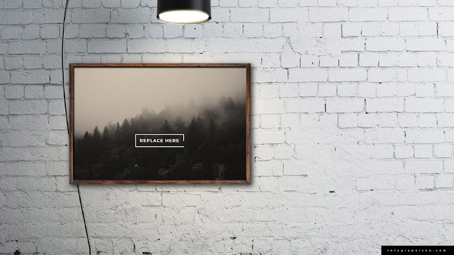 Realistic Wooden Photo Frame Mockup for PowerPoint Type A