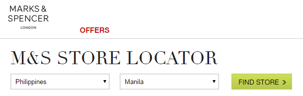 List of Marks & Spencer London Branches (Store Locator)