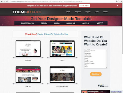 template profesional blogspot gratis