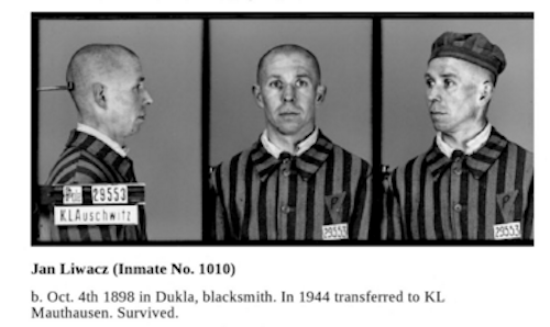 Jan Liwacz, the blacksmith who made the Auschwitz sign
