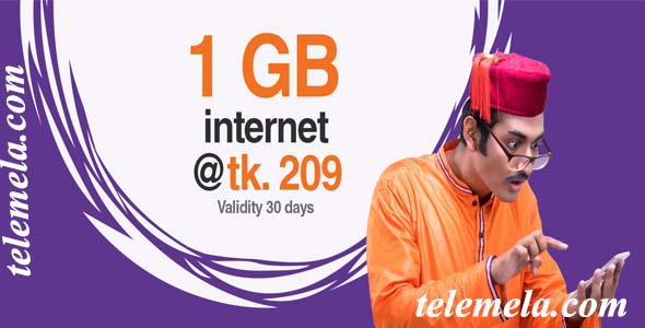 banglalink 1GB internet Package at 209tk