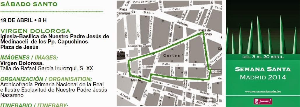 Procesión de la Virgen Dolorosa 2014 en Madrid. Fecha, horario y recorrido