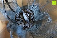 Blume: Valdler Damen Fascinator Hut Mini-Hut Blumen Tüll Netz Fasching Haarschmuck