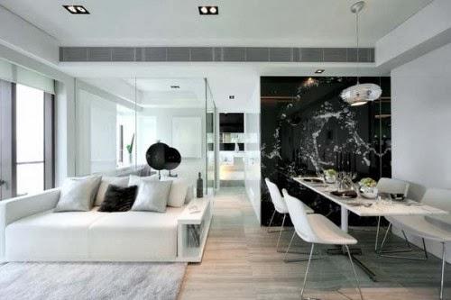 Comedores de color blanco y negro  Colores en Casa
