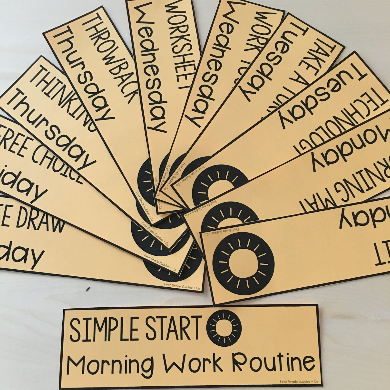 small resolution of Simple Start: Morning Work Routine   First Grade Buddies