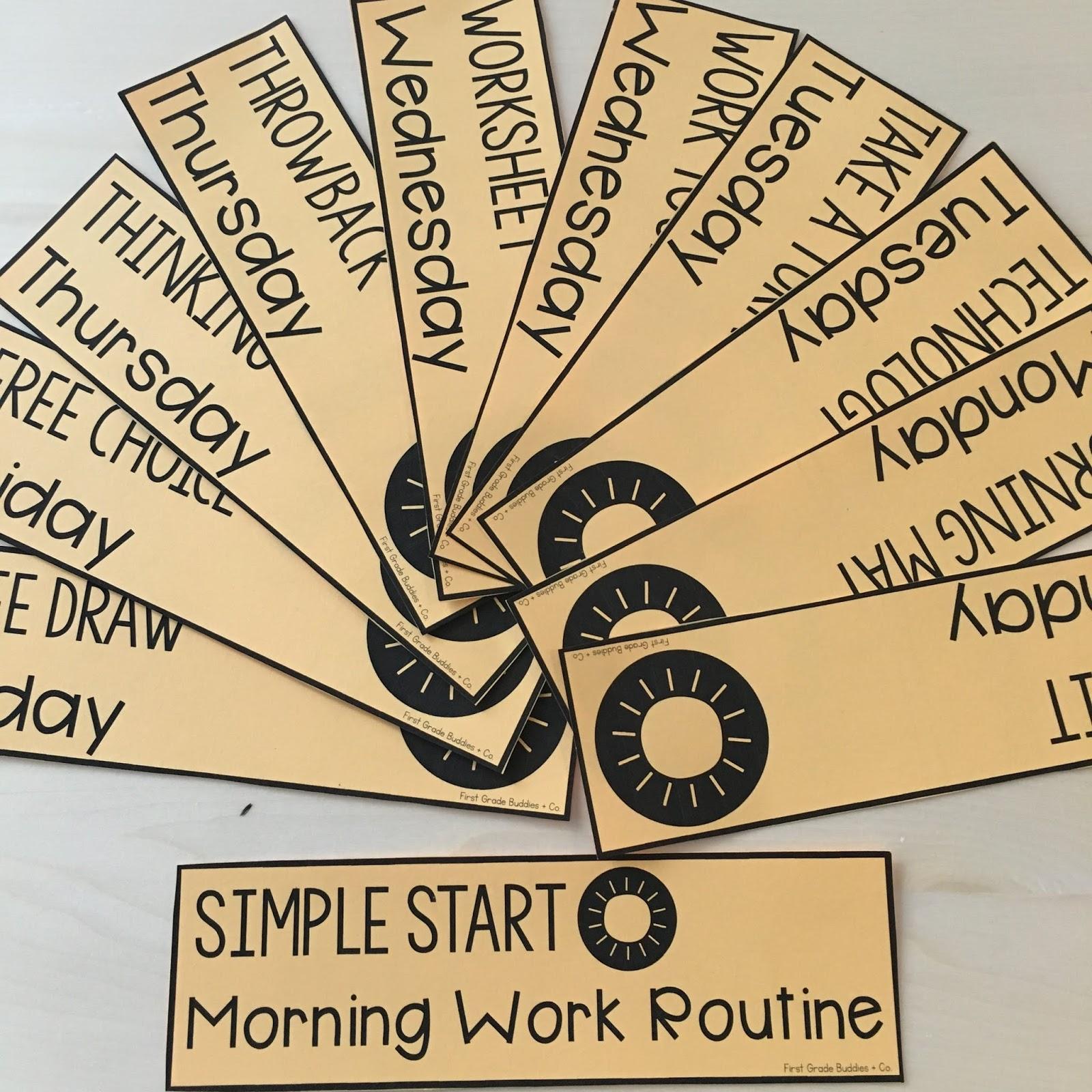 hight resolution of Simple Start: Morning Work Routine   First Grade Buddies