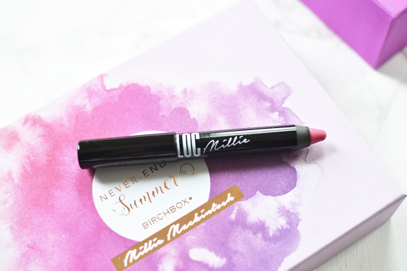 LOC x Millie Ultra-Gloss Lip Pencil in Bohemian Rose
