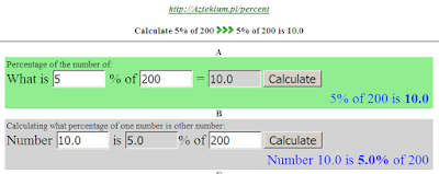 Percentages converter
