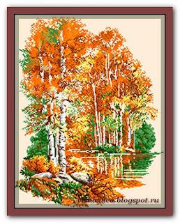 "Скачать схему вышивки Rogoblen 0.20 ""Birches in Autumn"""