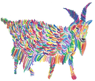 Amazing Technicolor Dream Goat