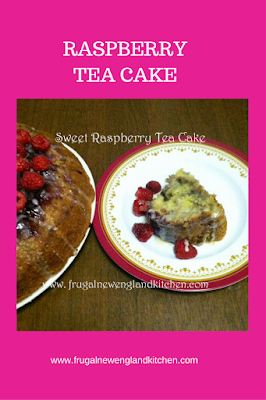 Sweet Raspberry Tea Cake Bundt Cake