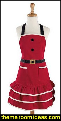 Mrs. Claus Kitchen/Baking Apron for the Holidays