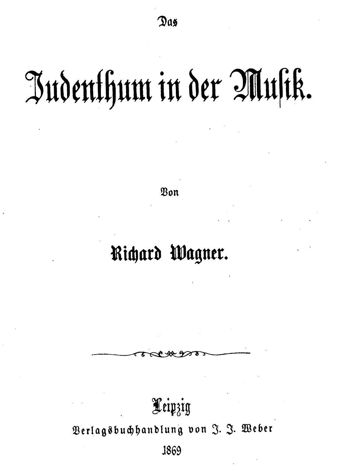 thus will we be united and out difference think classical the cover of the 1869 publication of das judenthum in der musik