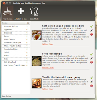 Cooking app for Ubuntu