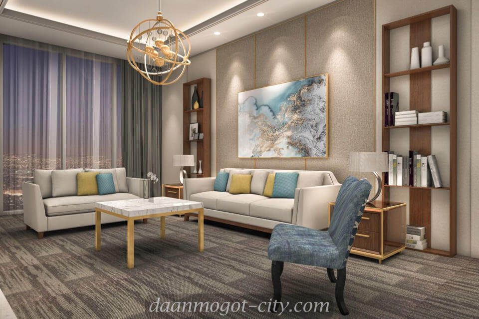 Contoh Design Living Room Apartemen DAMOCI