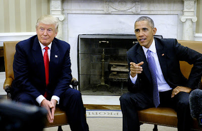 President Barack Obama and President Donald Trump