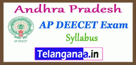 AP Andhra Pradesh DEECET Entrance Test Syllabus 2019 Admit Card