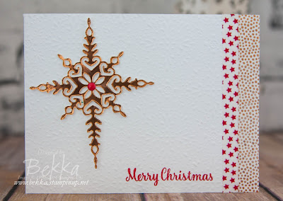 Star of Light Offset Fold Christmas Card