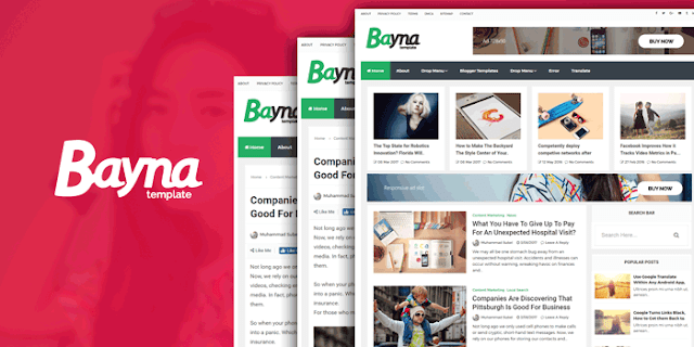 Bayna Free Blogger Template