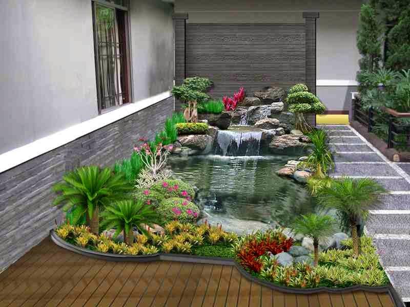 desain kolam ikan minimalis di lahan sempit