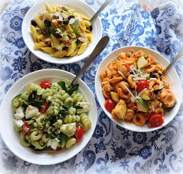A Trio of Pasta Salads