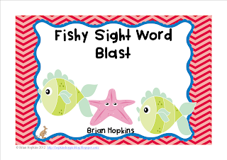 FREEBIE Fish Sight Word Blast
